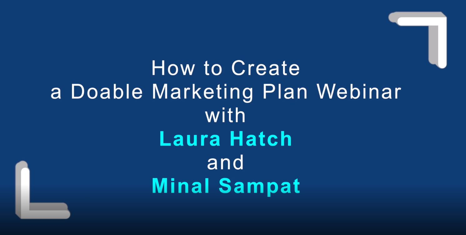 How to Create a Doable Marketing Plan Webinar Replay Cover Image